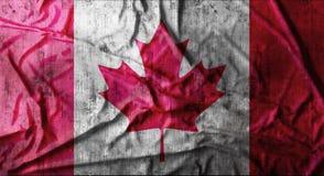 Drapeau canadien chiffonné par grunge rendu 3d Image libre de droits