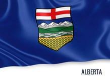 Drapeau canadien d'Alberta d'état Photographie stock libre de droits
