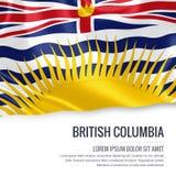 Drapeau canadien de Colombie-Britannique d'état Image stock