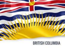 Drapeau canadien de Colombie-Britannique d'état illustration libre de droits