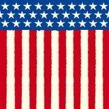 Drapeau carré américain de croquis Image stock
