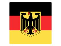 Drapeau carré de l'Allemagne illustration libre de droits