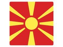 Drapeau carré de Macédoine illustration stock