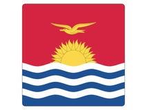 Drapeau carré du Kiribati illustration stock