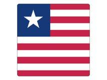 Drapeau carré du Libéria illustration libre de droits