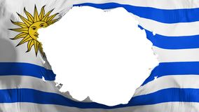 Drapeau cassé de l'Uruguay illustration de vecteur