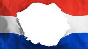 Drapeau cassé du Paraguay illustration libre de droits