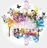 Drapeau coloré illustration libre de droits