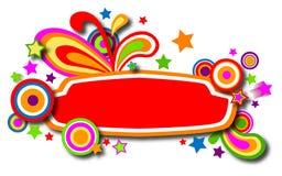 Drapeau coloré de discothèque avec des étoiles Images libres de droits