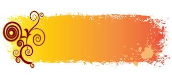 Drapeau coloré sale avec des remous et des taches illustration stock