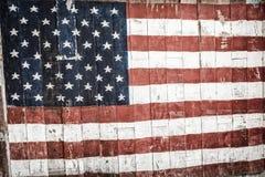 Drapeau concept le ce en bois américain de mémorial de jour national du 4 juillet Image stock