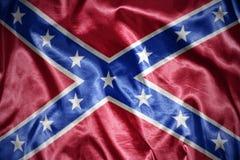 drapeau confédéré brillant image libre de droits