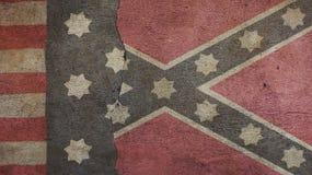 Drapeau confédéré et drapeau des syndicats Images stock