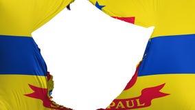 Drapeau criqué de capitale de Saint Paul illustration libre de droits