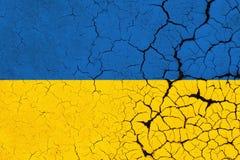 Drapeau criqué de l'Ukraine - crise illustration libre de droits