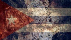 Drapeau cubain très sale, texture grunge de fond du Cuba illustration libre de droits