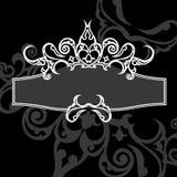 Drapeau décoratif de cru Photographie stock libre de droits
