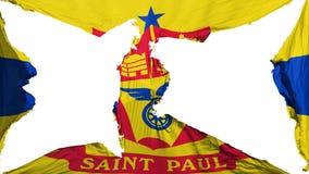 Drapeau détruit de capitale de Saint Paul illustration stock