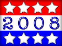 Drapeau d'élection illustration stock