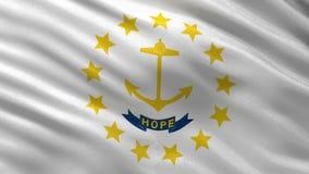 Drapeau d'état d'USA de boucle sans couture de Rhode Island illustration libre de droits