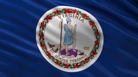 Drapeau d'état d'USA de la Virginie - boucle sans couture illustration stock