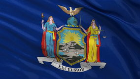 Drapeau d'état d'USA de New York - boucle sans couture illustration libre de droits