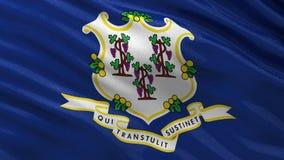 Drapeau d'état d'USA du Connecticut - boucle sans couture illustration stock