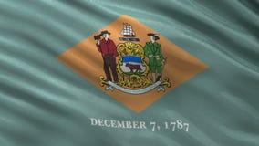 Drapeau d'état d'USA du Delaware - boucle sans couture illustration stock
