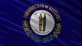 Drapeau d'état d'USA du Kentucky - boucle sans couture illustration stock