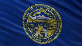 Drapeau d'état d'USA du Nébraska - boucle sans couture illustration libre de droits