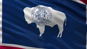Drapeau d'état d'USA du Wyoming - boucle sans couture illustration stock