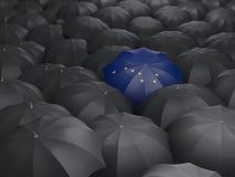 Drapeau d'état de l'Alaska sur le parapluie Drapeaux de gens du pays des Etats-Unis Illustration Stock