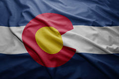 Drapeau d'état du Colorado illustration de vecteur