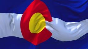 267 Drapeau d'état du Colorado ondulant à l'arrière-plan sans couture continu de boucle de vent illustration de vecteur