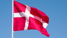 Drapeau d'état du Danemark banque de vidéos