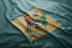Drapeau d'état du Delaware Photos libres de droits