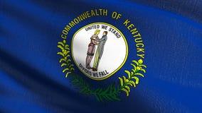 Drapeau d'état du Kentucky aux Etats-Unis d'Amérique, Etats-Unis, soufflant dans le vent d'isolement Conception abstraite patriot illustration libre de droits