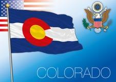 Drapeau d'État fédéral du Colorado, Etats-Unis Photos stock
