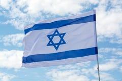 Drapeau d'état d'Israël, blanc-bleu avec l'étoile de David, Magen DA photographie stock libre de droits