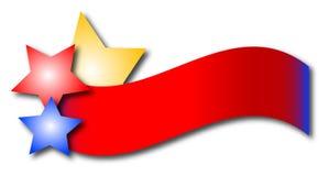 Drapeau d'étoile Image libre de droits