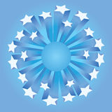 Drapeau d'étoiles Illustration Stock