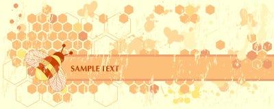 Drapeau d'abeille de miel Illustration de Vecteur