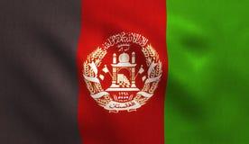 Drapeau d'Afghaniastan Image stock