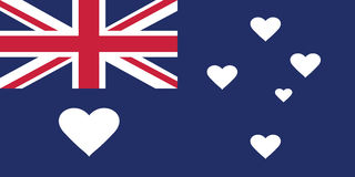 Drapeau d'amour d'Australie Photo stock