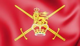 drapeau 3D d'armée britannique illustration stock