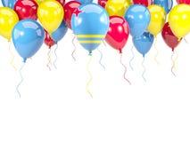 Drapeau d'Aruba sur des ballons Photographie stock