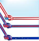 Drapeau d'Australie, de l'Angleterre et des Etats-Unis illustration de vecteur