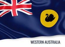 Drapeau d'Australie occidentale d'état australien illustration stock