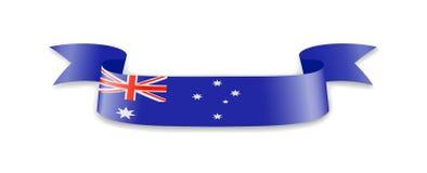 Drapeau d'Australie sous forme de ruban de vague Photo stock