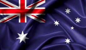 Drapeau d'Australie sur le rétro effet de vieux fond illustration stock